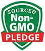 SOURCED Non-GMO PLEDGE (seal)