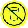 nonrecyclable cups not allowed