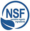 NSF - contains organic ingredients (cert)