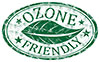 OZONE FRIENDLY (leaf stamp)