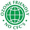 OZONE FRIENDLY NO CFC'S (green)