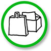 [shopping with] paper bags and boxes