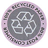 100% RECYCLED 80% POST CONSUMER PAPER - remake