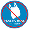PLASTIC BAGS not accepted (edu, US)