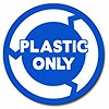 PLASTIC ONLY (blue decal)