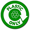 [recycling] PLASTIC ONLY (decal)