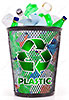 plastic recycling basket