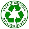 PLEASE RECYCLE (2x)