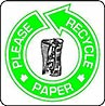 PLEASE RECYCLE PAPER (green)
