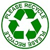 PLEASE RECYCLE (clipart stamp)