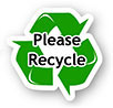 Please Recycle (green sticker)