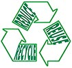 REDUCE REUSE RECYCLE (sign overwrite)