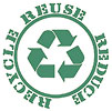 RECYCLE REUSE REDUCE (green, US)