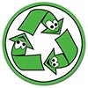 recycle: 3 funny creatures