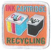 INK CARTRIDGES RECYCLING (sew-on badge)