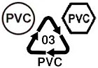 recycle PVC (plastic 03)
