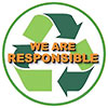 WE ARE RESPONSIBLE (recycling)