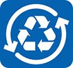 reciclaje (2 arrows on blue)