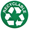 RECYCLABLE (green dot label)