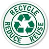 RECYCLE REDUCE REUSE (reminder)