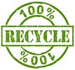 100% RECYCLE (stamp)
