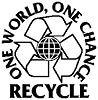 RECYCLE. ONE WORLD, ONE CHANCE
