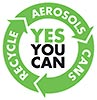 YES YOU CAN / RECYCLE AEROOLS CANS