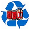 recycle cans and bottles