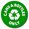 recycle cans & bottles only