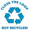 CLOSE THE LOOP - BUY RECYCLED!