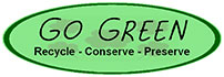 GO GREEN Recycle Conserve Preserve (oval plaq)