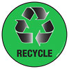 RECYCLE (green floor sign)