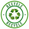 RECYCLE (green stamp, CA)