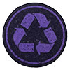 recycle in purple