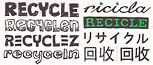 RECYCLE + 7x in various languages
