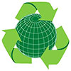 recycle over globe