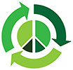 recycle peace (green)