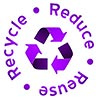 recycle reuse reduce (purple)