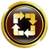 recycle button (square gold sign)