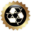 recycle star badge