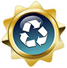 recycle star (badge, US)