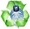recycle water bottles