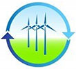 recycle wind power (icon)