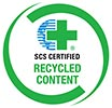 SCS CERTIFIED RECYCLED CONTENT