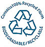 Contains 100% Recycled Fibres BIODEGRADABLE RECYCLABLE