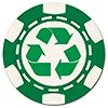 recycled poker chip