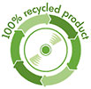 100% recycled product