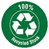Recycled Stock 100% (green)