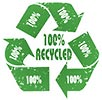 recycling (green) 100% recycled