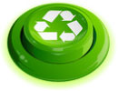 recycling (3D, glow, real button)